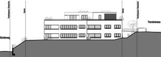 Façade est Neubau Mehrfamilienhäuser am Rebberg de Architektur Rolf Stalder AG