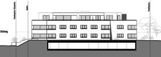 Façade sud Neubau Mehrfamilienhäuser am Rebberg de Architektur Rolf Stalder AG