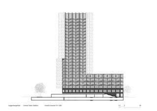 Vue cour intérieure Limmat Tower de Architekten ETH SIA BSA<br/>