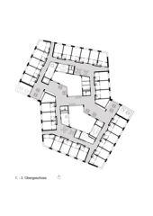 1.-3. Obergeschoss Alterszentrum Obere Mühle Lenzburg von Oliv Brunner Volk Architekten GmbH