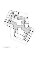 4. Obergeschoss Alterszentrum Obere Mühle Lenzburg von Oliv Brunner Volk Architekten GmbH