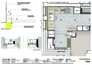Detailplan Küche Complexe Bel-Air von CCHE Lausanne SA