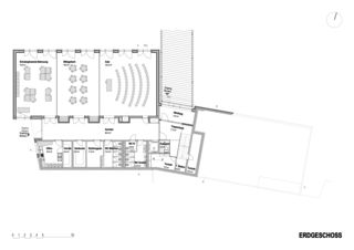 Erdgeschoss Schulhauserweiterung Löffelmatt von BAUREAG Architekten AG