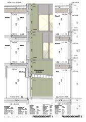 Fassadenschnitte 1+2 Schulhauserweiterung Löffelmatt von BAUREAG Architekten AG