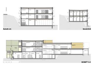 Schnitte Schulhauserweiterung Löffelmatt von BAUREAG Architekten AG