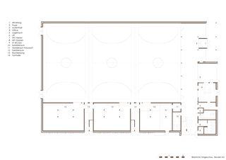 Erdgeschoss Dreifachsporthalle Bildstöckli von Bandel AG I Architekten / og-architektur + a.jung