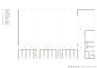 Obergeschoss Dreifachsporthalle Bildstöckli von Bandel AG I Architekten / og-architektur + a.jung