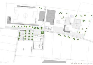 Umgebung Dreifachsporthalle Bildstöckli von Bandel AG I Architekten / og-architektur + a.jung