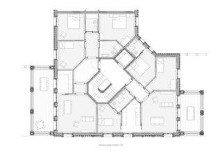 Detail Wohnungsgrundriss all'angolo von