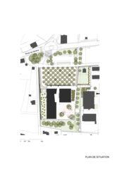 Situationsplan École Les Voiles du Léman von Atelier Cube SA