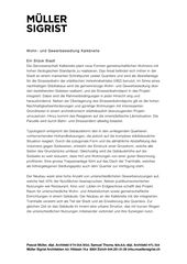 Description du projet Kalkbreite de Müller Sigrist Architekten AG