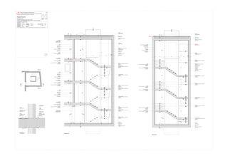 Coupe cage d'escalier Progetto 100 von Studio Architettura