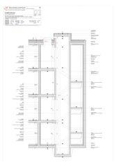Coupe détailée d'ascenseur Progetto 100 von Studio Architettura