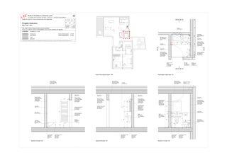 Salle de bain de service - attque Progetto 100 von Studio Architettura