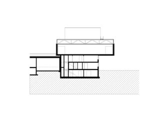 Querschnitt Anbau Garderoben- und Lagergebäude mit Produktion de Andreas Müller Architekten AG
