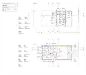 Piante piano terreno, piano primo Progetto Cuvée de Studio Architettura