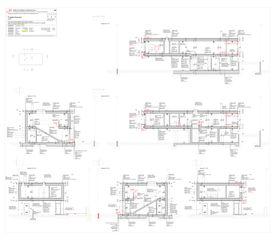 Sezioni Progetto Cuvée de Studio Architettura