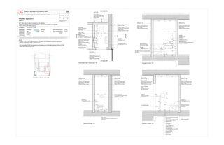 Piano di dettaglio: Bagno piano terra Progetto Cuvée de Studio Architettura
