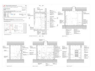 Piano di dettaglio: Bagno piano primo Progetto Cuvée de Studio Architettura