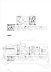 Grundriss EG und 1.OG Erweiterung Mitte Schulthess Klinik Zürich von Grüter Strässle Architekten