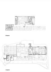 Grundriss 2.OG und 1.UG Erweiterung Mitte Schulthess Klinik Zürich von Grüter Strässle Architekten