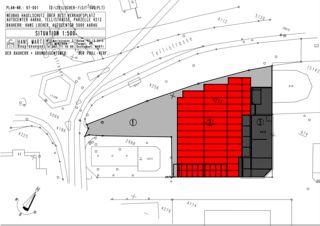 Situation 1:500 Autoverkaufsplatz; Hagelschutz-Dach  von Hans Marti Bauplanungen