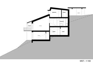 Schnitt EFH Jäggi von Binder Architektur AG SIA