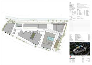 Plan de situation Limmat Building de Itten+Brechbühl AG