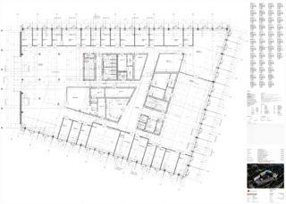 Plan 1er étage Limmat Building de Itten+Brechbühl AG