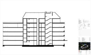 Schnitt A-A Limmat Building von Itten+Brechbühl AG