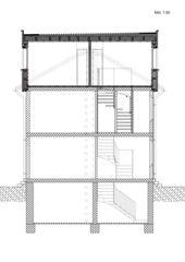 Schnitt Aufstockung Mehrfamilienhaus von Binder Architektur AG SIA