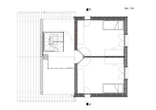 Grundriss Aufstockung Mehrfamilienhaus von Binder Architektur AG SIA