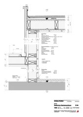 Detail Dachanschluss Aufstockung Mehrfamilienhaus von Binder Architektur AG SIA