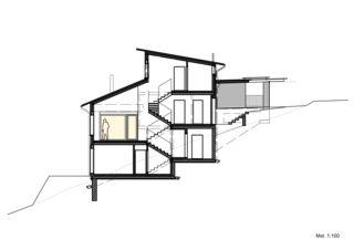 Schnitt EFH Lütolf von Binder Architektur AG SIA