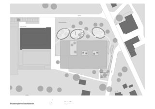 Situation Neubau Primarschulhaus mit Doppelkindergarten Rotewis de Diplomierte Architekten FH<br/>