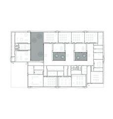 Grundriss Neubau Primarschulhaus mit Doppelkindergarten Rotewis von Diplomierte Architekten FH<br/>