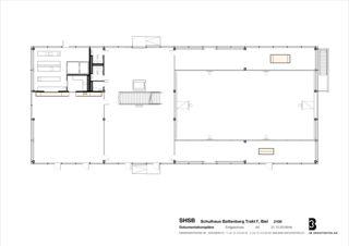 Rez-de-chaussée Sprachheilschule Biel Seeland de 3B Architekten AG