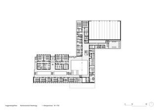 1. Obergeschoss  M 1:750 Sanierung und Erweiterung Kantonsschule Heerbrugg von Architekten ETH SIA BSA<br/>