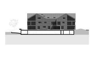 Längsschnitt 1:100 Energieautarkes Mehrfamilienhaus Brütten  von René Schmid Architekten AG