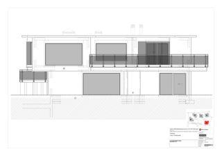 Westfassade Haus A 5 Zweifamilienhäuser Rütihalde, Uznach (SG) von Creativ-Planbau AG