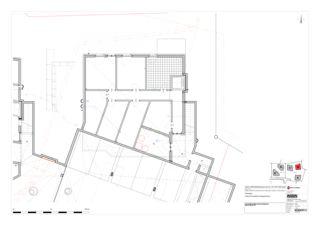 Grundriss Erdgeschoss Haus B 5 Zweifamilienhäuser Rütihalde, Uznach (SG) von Creativ-Planbau AG