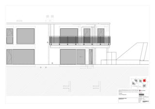 Westfassade Haus B 5 Zweifamilienhäuser Rütihalde, Uznach (SG) von Creativ-Planbau AG
