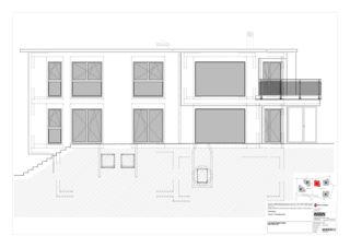 Haus C West-, Nord-, Ost-, Südfassade 5 Zweifamilienhäuser Rütihalde, Uznach (SG) von Creativ-Planbau AG