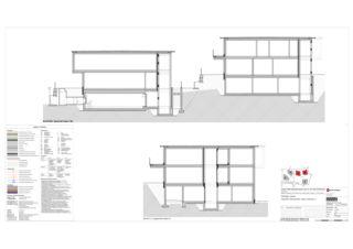 Haus B+C Schnitte MM, LL 5 Zweifamilienhäuser Rütihalde, Uznach (SG) von Creativ-Planbau AG