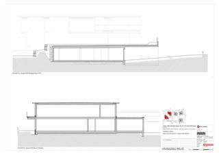 Haus D+E Schnitte AA, DD 5 Zweifamilienhäuser Rütihalde, Uznach (SG) von Creativ-Planbau AG