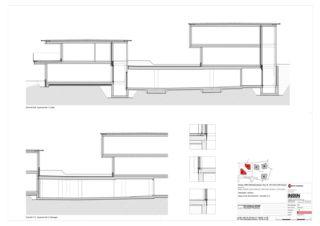 Haus D+E Schnitte BB, CC 5 Zweifamilienhäuser Rütihalde, Uznach (SG) von Creativ-Planbau AG