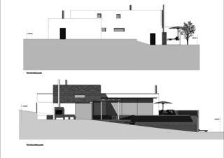 Façades nord Einfamilienhaus Nauer de Architekturbüro Cécile Treier