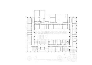 Grundriss Erdgeschoss Berufsbildungszentrum Sursee von Architekten ETH/SIA<br/>