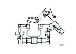 Rez-de-chaussée Erweiterung Landesmuseum de Architekten ETH/SIA/BSA<br/>
