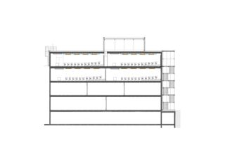 Längsschnitt Hörsäle ZHAW Winterthur, Umbau Bibliothek de Architekten ETH/SIA<br/>